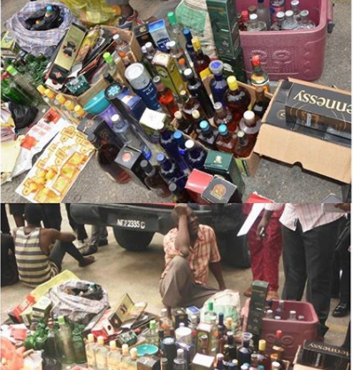 Fake wine sellers arrested in Mushin, Lagos.
