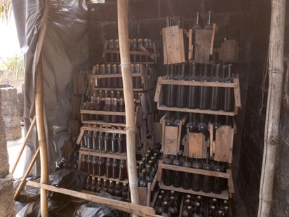 A picture of fake wine factory uncovered in Aboru, Lagos.